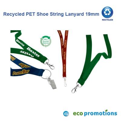 Recycled PET Shoe String Lanyard 19mm