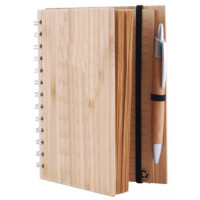 Bamboo Cover Notebook with Bamboo Pen