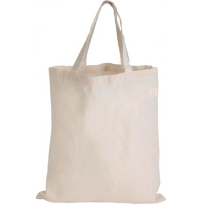 Calico Bag with Short Handles