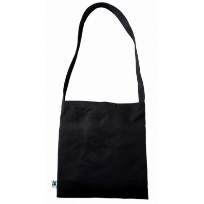 FairTrade Black Cotton Messenger Bag