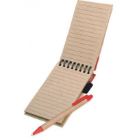 Nature Recycled Paper Flip Notebook with matching pen