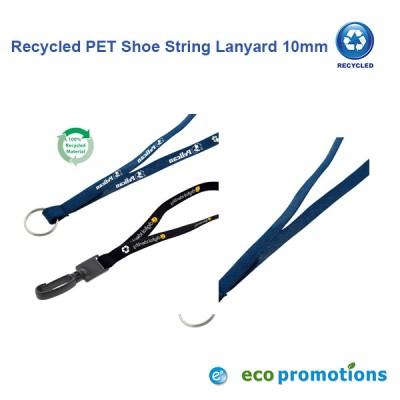 Recycled PET Shoe String Lanyard 10mm