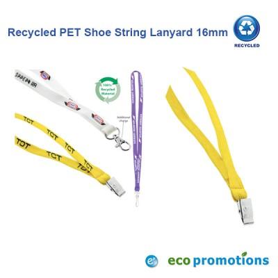 Recycled PET Shoe String Lanyard 16mm